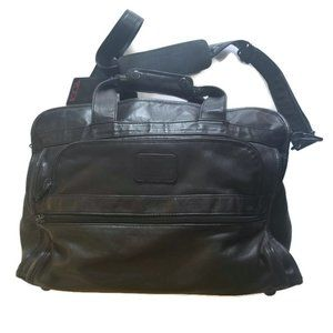 Tumi 20 in BLACK Leather Duffel Weekend Bag